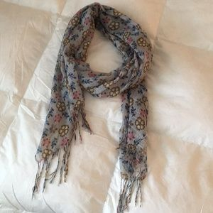 Accessories - Light Blue Floral Scarf from Paris